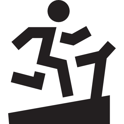 Running on a treadmill vector logo