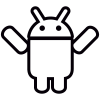 Android with Two Arms Up vector