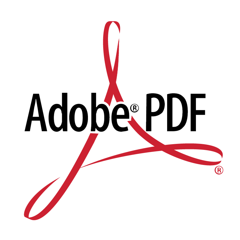 Adobe PDF vector logo