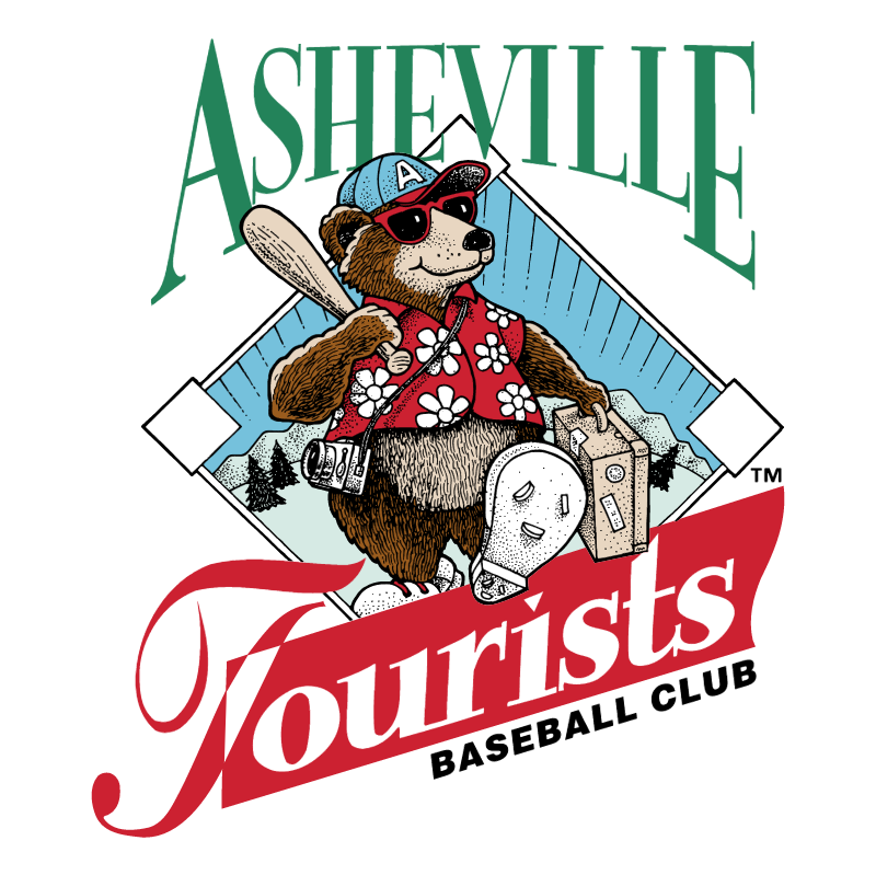 Asheville Tourists vector