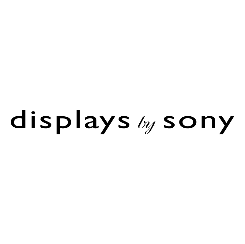 Display by Sony vector logo