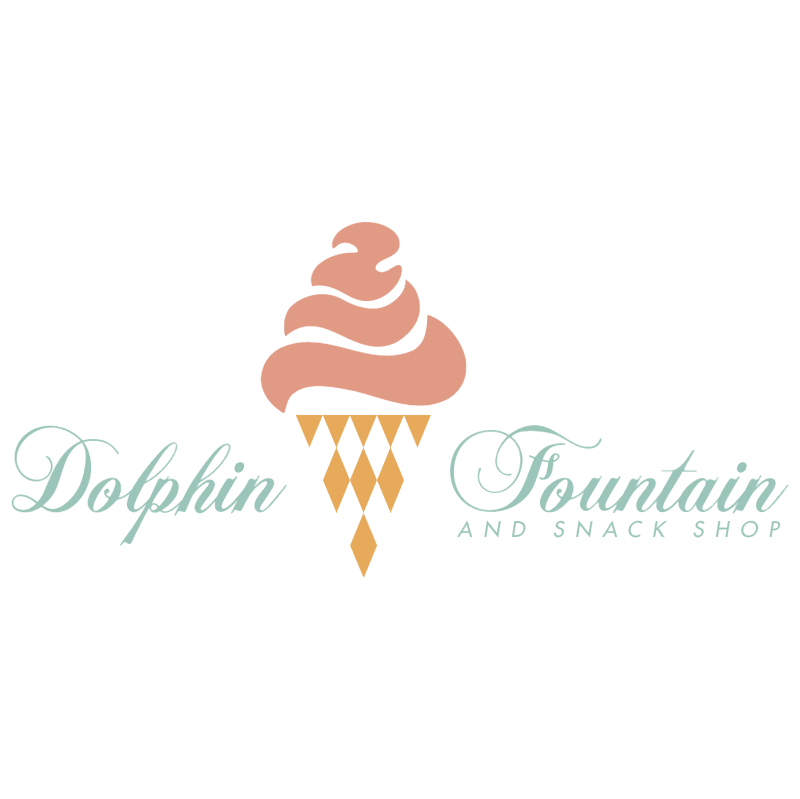 Dolphin Fountain vector