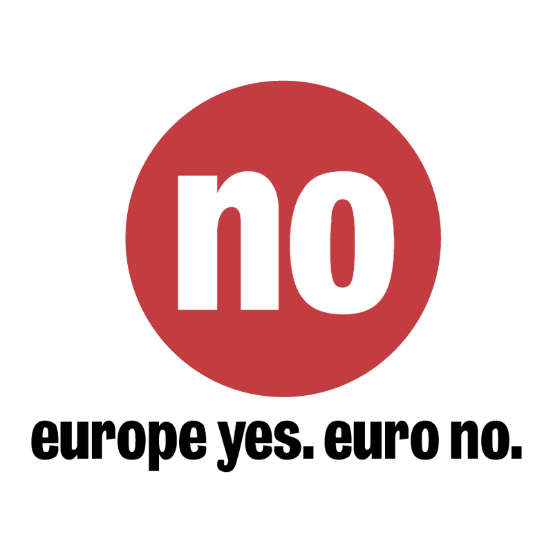 No Euro vector logo