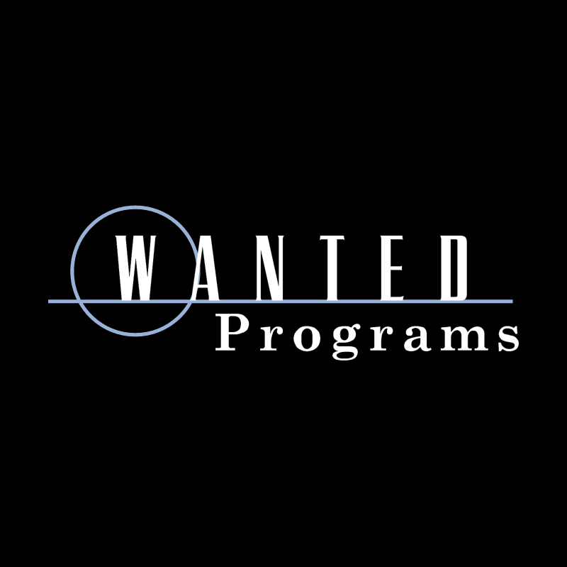 Wanted Programs vector