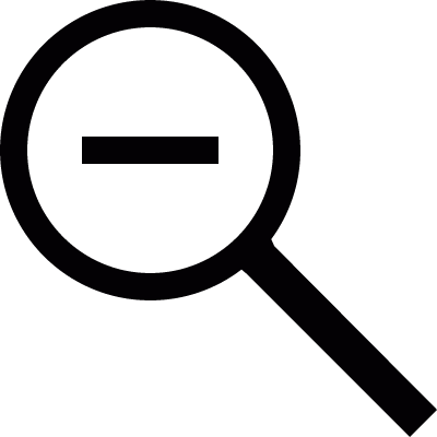 Zoom out vector logo