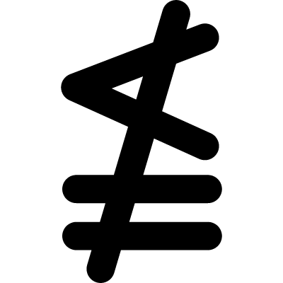 Neither less or exactly equal mathematical symbol vector logo