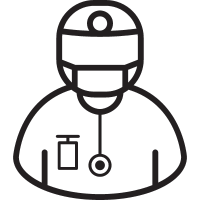 Surgeon with Mask vector