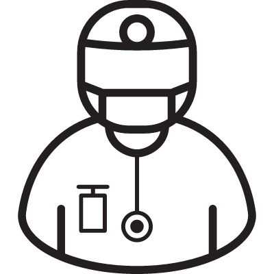 Surgeon with Mask vector logo