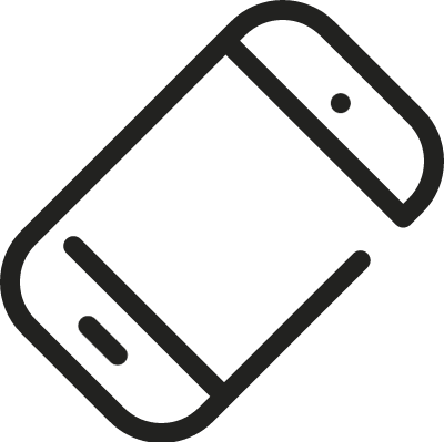 Inclined Smartphone vector logo