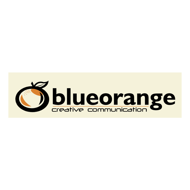 Blue Orange Creative Communication vector