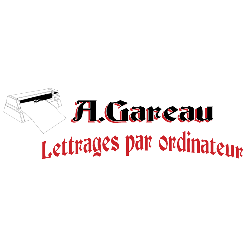 Gareau Lettrages vector