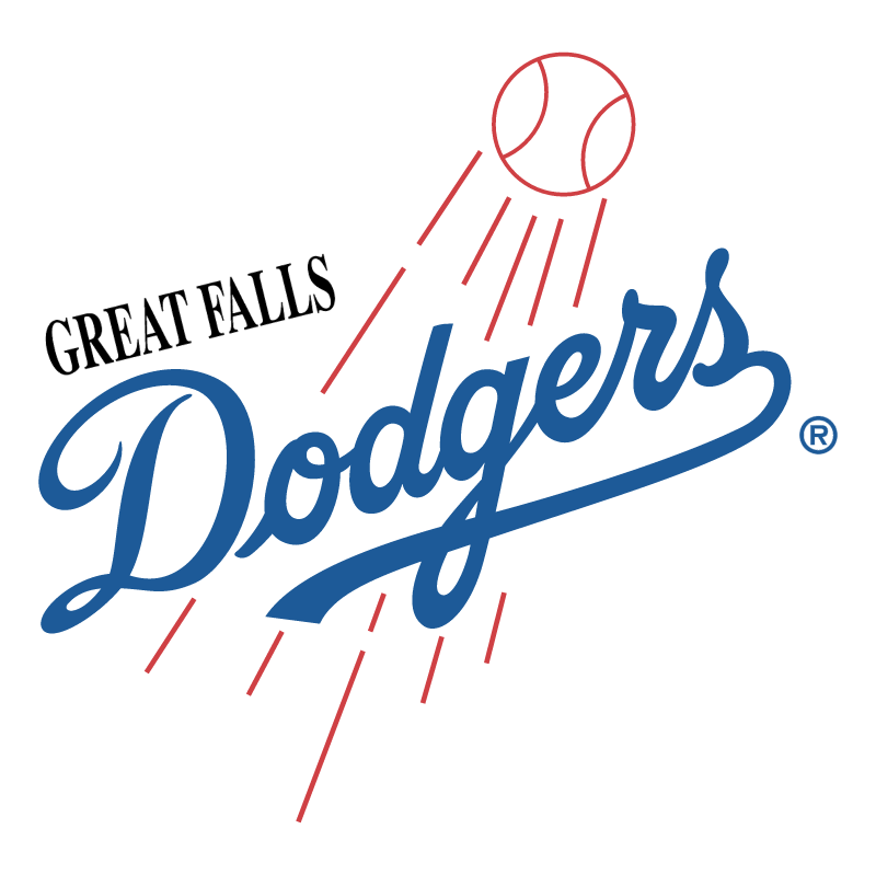 Great Falls Dodgers vector logo
