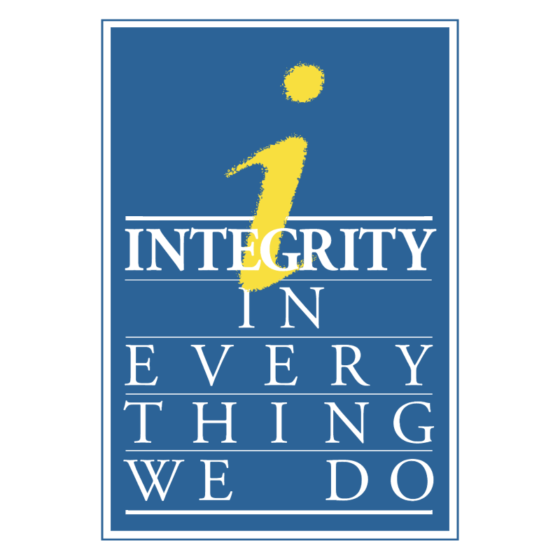 Integrity in Every Thing We Do vector logo