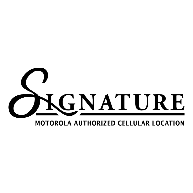Signature vector logo
