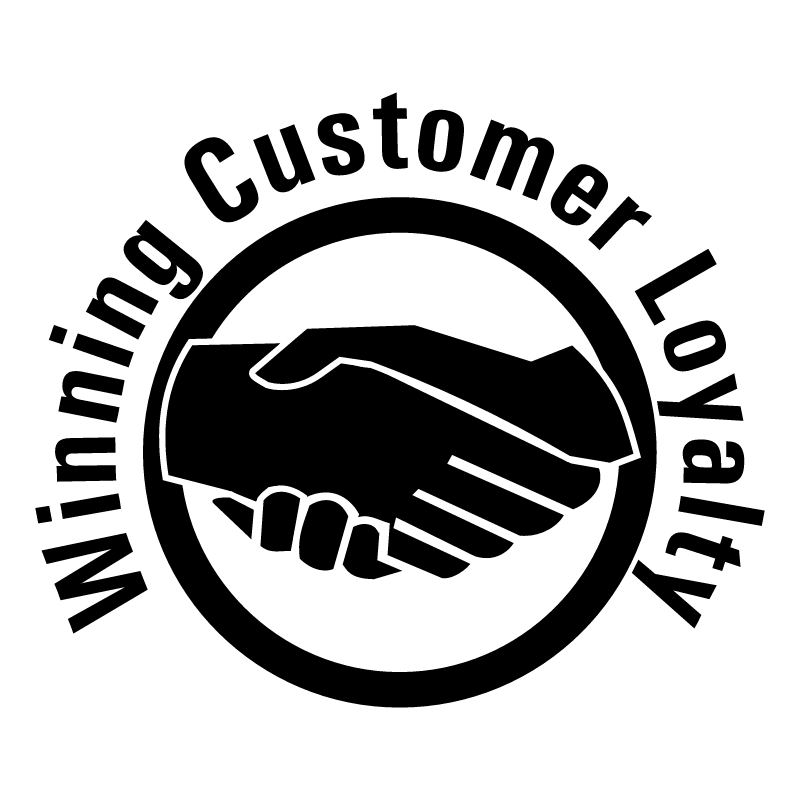Winning Customer Loyalty vector logo