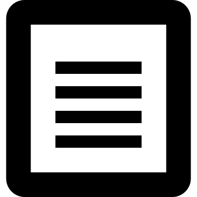 File symbol of a page with text vector logo