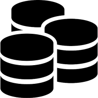 Three databases symbol