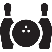 Bowling Ball and Two Bowls vector