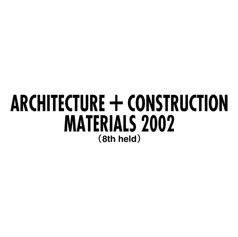 Architecture + Construction Materials 2002 vector