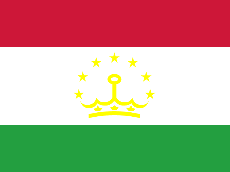Flag of Tajikistan vector