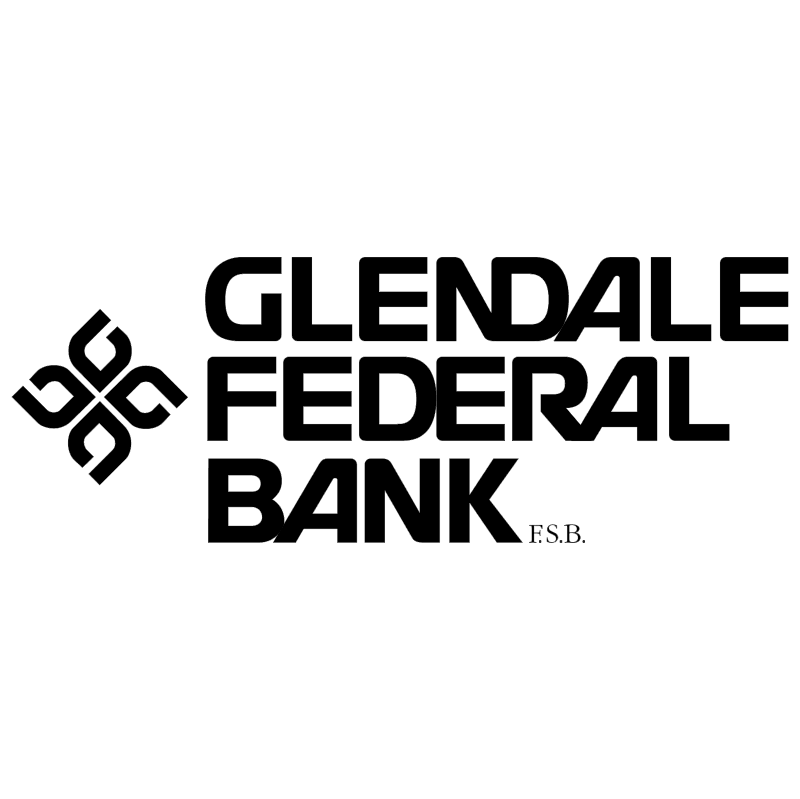 Glendale Federal Bank vector logo