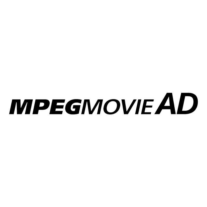 MPEG Movie AD vector