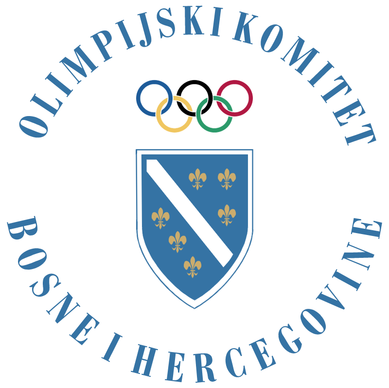 Olympic Comitee Bosnia and Herzegovina vector