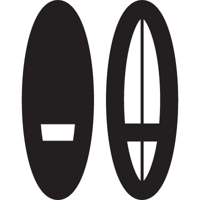 Two Surfing Boards vector logo