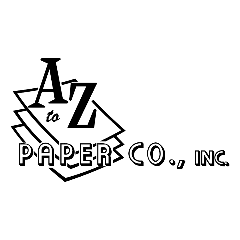 A to Z Paper vector logo