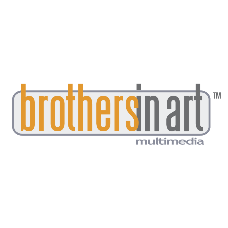 Brothers in art multimedia vector logo
