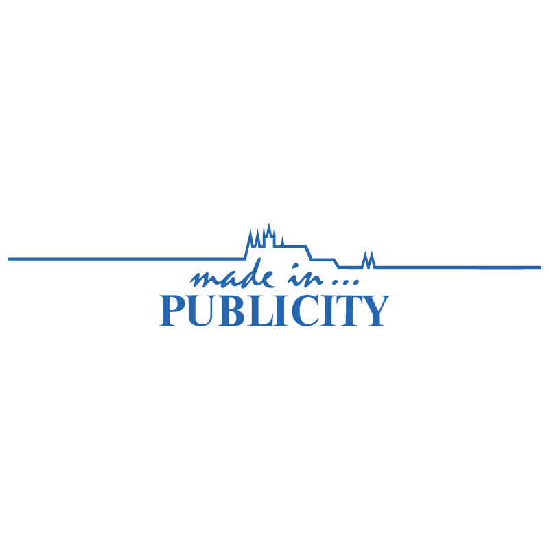 Made in Publicity vector logo