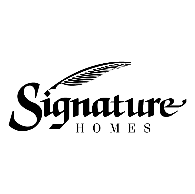 Signature Homes vector logo