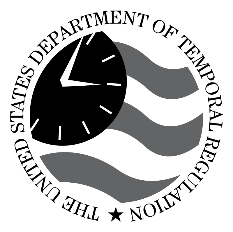 The United States Department of Temporal Regulation vector logo