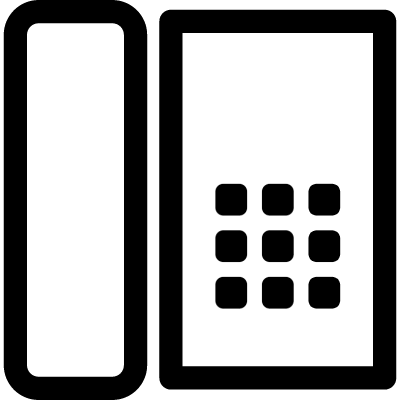 Telephone outline from top view vector logo