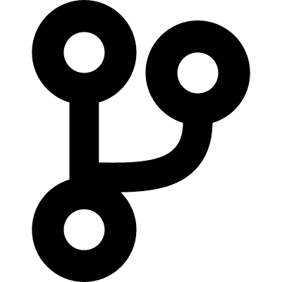 Interface symbol of three circles with lines union vector logo