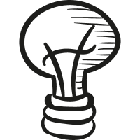 Draw Light Bulb vector