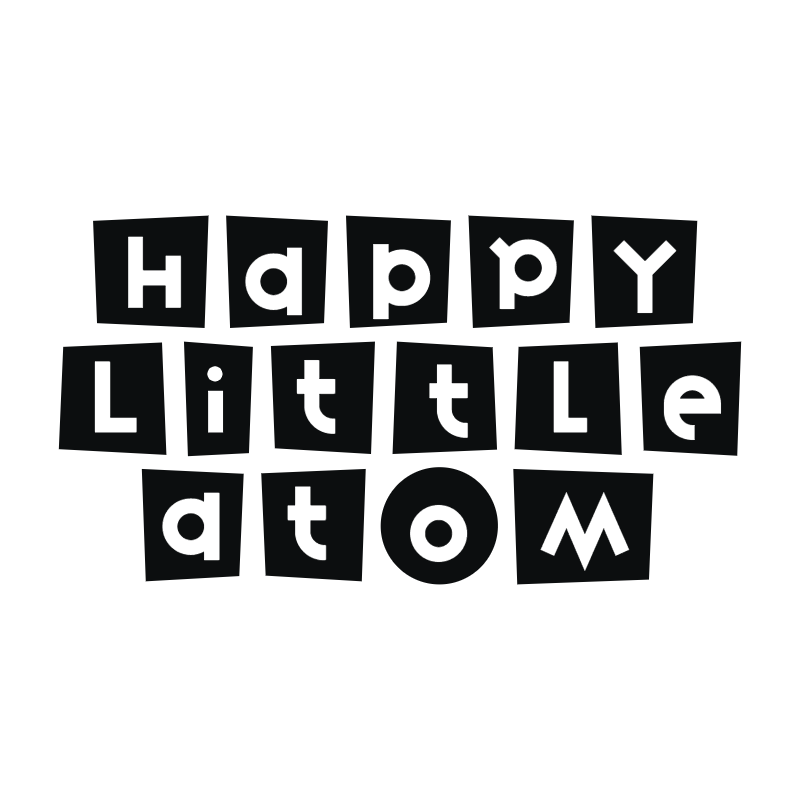Happy Little Atom vector logo