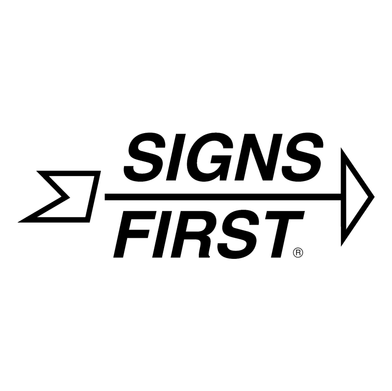 Signs First vector