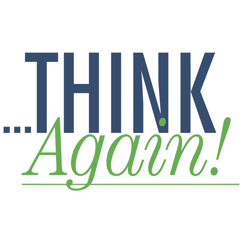 Think Again vector logo