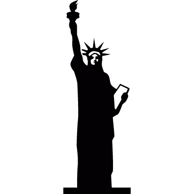 The Statue of Liberty vector logo