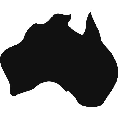 Australia black country map shape vector logo