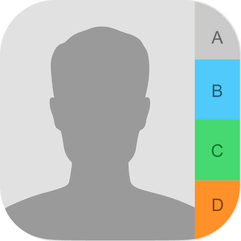 Contacts iOS vector