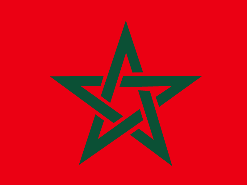 Flag of Morocco vector logo
