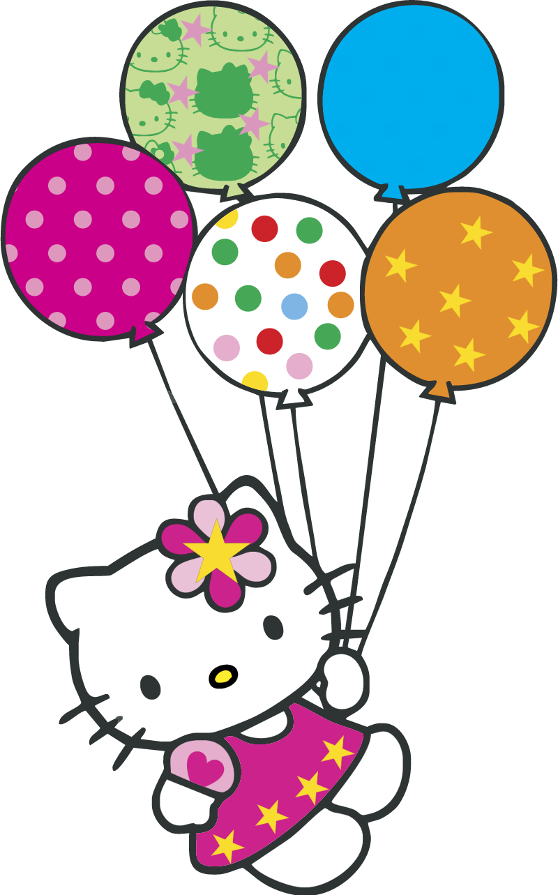 Hello Kitty con globitos