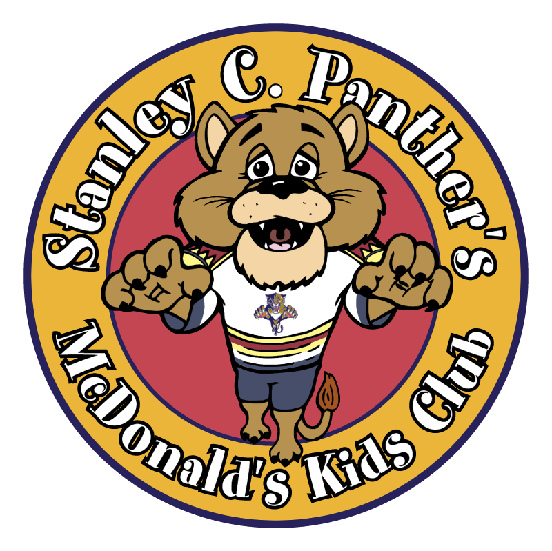 McDonald's & Florida Panthers Kids Club vector
