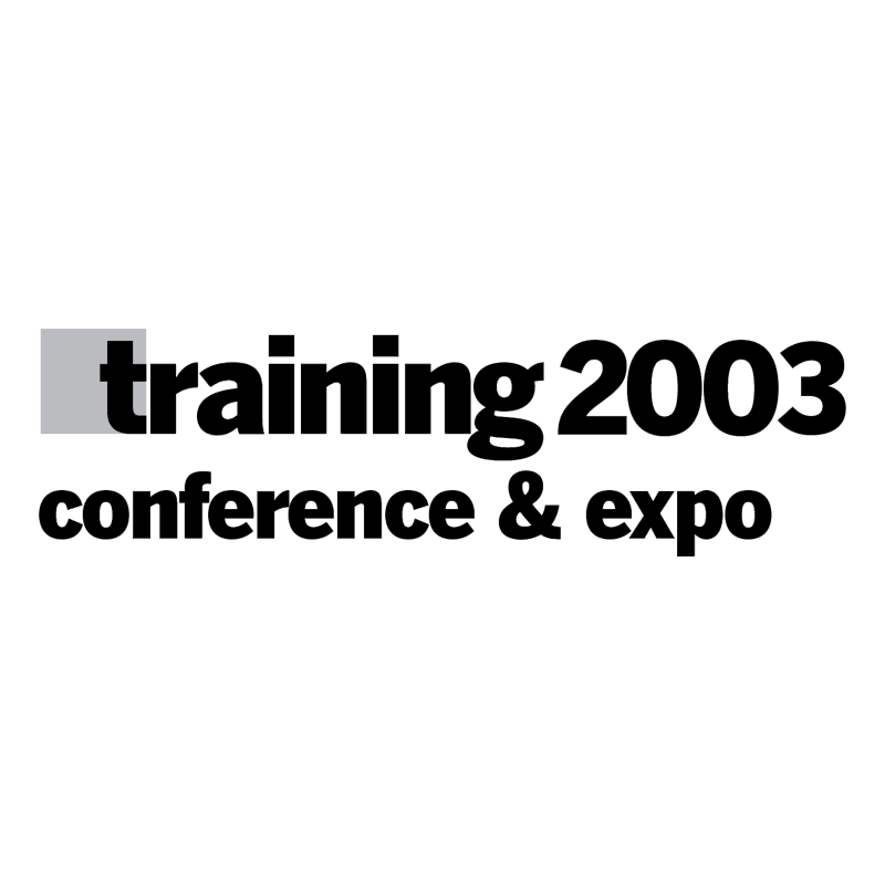 Training 2003 vector logo
