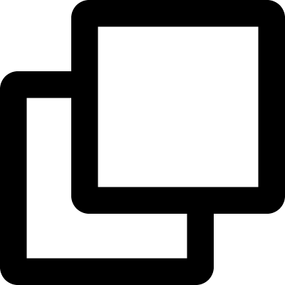 Two squares outlined symbol of interface vector logo