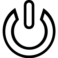 Power outlined symbol
