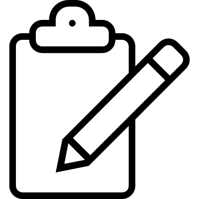 Clipboard edition outlined interface symbol logo