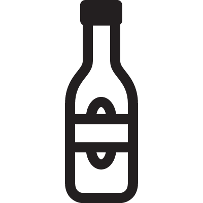 Vodka Bottle vector logo